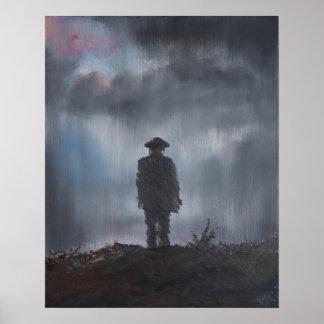 Primera guerra mundial del soldado desconocido póster