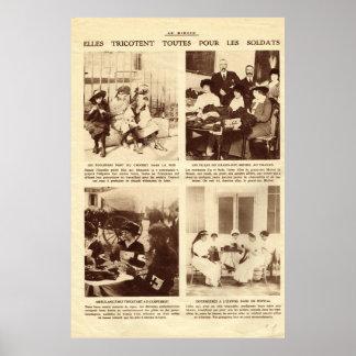 Primera guerra mundial, haciendo punto para los póster