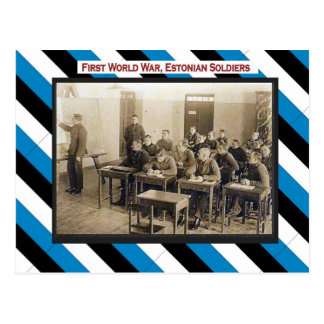 Primera Guerra Mundial, sala de clase estonia de Postal