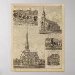 Primera iglesia de Universalisty, Minneapolis, Min Poster