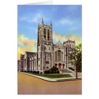 Primera iglesia metodista de Charlotte Carolina de Tarjeta