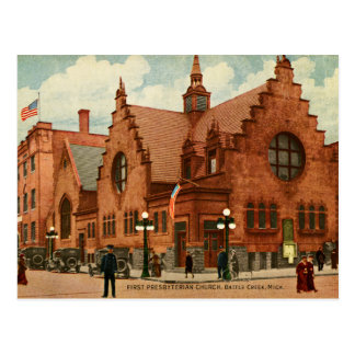 Primera iglesia presbiteriana Houston, postal de T