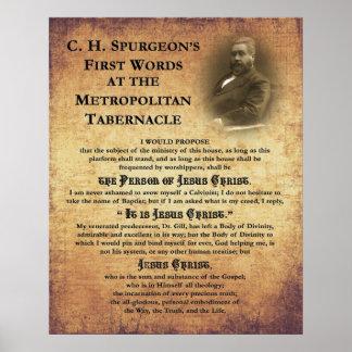 Primera impresión de las palabras del tabernáculo  póster
