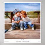 Primera impresión del beso posters