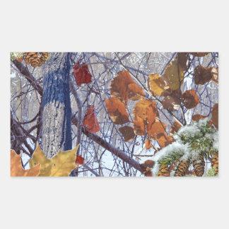 Primera impresión del camuflaje del invierno de la pegatina rectangular