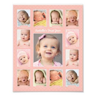 Primera impresión del collage del recuerdo de la f impresión fotográfica