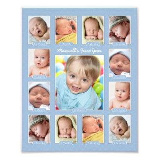 Primera impresión del collage del recuerdo de la fotografía