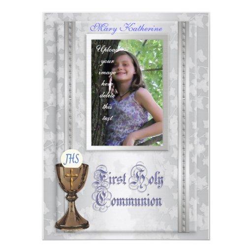 Primera invitación de la comunión con la foto