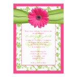Primera invitación de la comunión del damasco verd