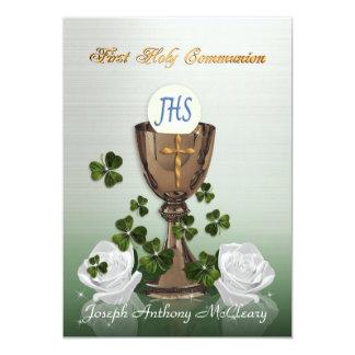 Primera invitación de la comunión del irlandés con
