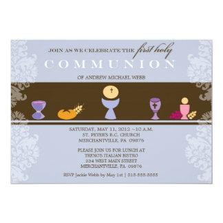 Primera invitación de la comunión del muchacho