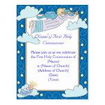 Primera invitación de la comunión santa tarjeta postal