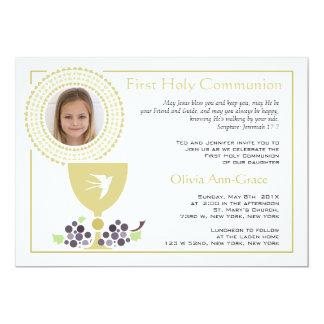 Primera invitación de la foto de la comunión
