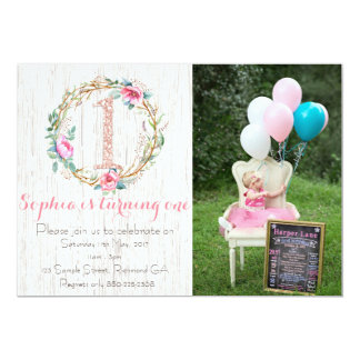 Primera invitación del cumpleaños - acuarela