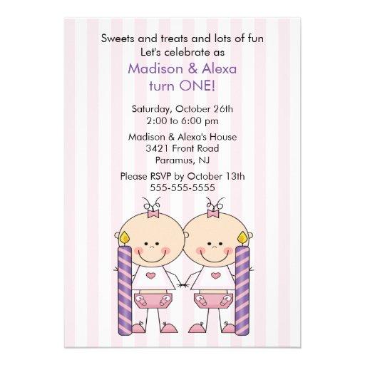Primera invitación del cumpleaños de los chicas ge