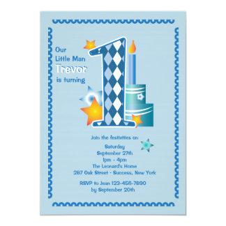 Primera invitación del cumpleaños del pequeño invitación 12,7 x 17,8 cm