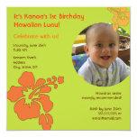 Primera invitación hawaiana de la foto del invitación 13,3 cm x 13,3cm