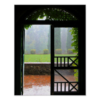 Primera lluvia hiedra y ladrillo impresiones