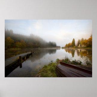 Primera luz, lago Ard Escocia Impresiones