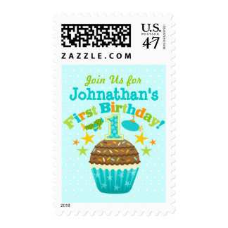 Primera magdalena del cumpleaños (muchachos) sellos postales