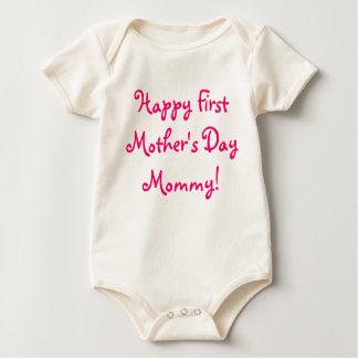 ¡Primera mamá feliz del día de madre! Mameluco
