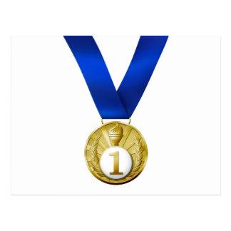 Primera medalla del lugar postal