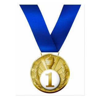 Primera medalla del lugar postales