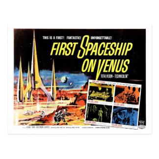 """""""Primera nave espacial en postal de Venus"""""""