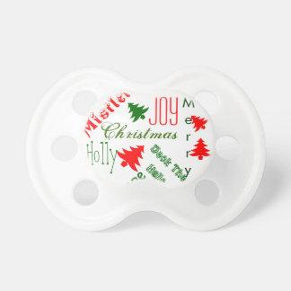 Primera Navidad de los bebés del navidad del bebé Chupete