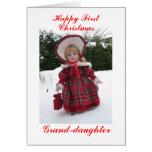 Primera nieta feliz del navidad tarjeta de felicitación