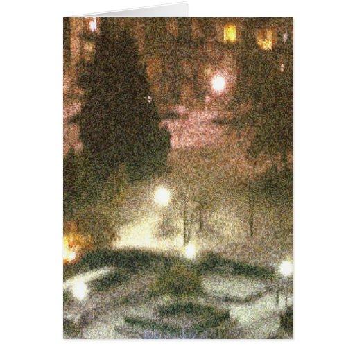 Primera nieve tarjeta