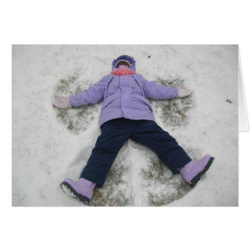 Primera nieve tarjeta de felicitación