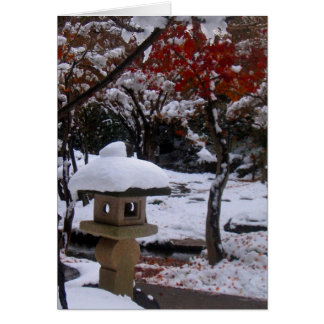 Primera nieve tarjeta pequeña