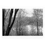 primera nieve tarjeta postal