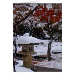 Primera nieve tarjetas