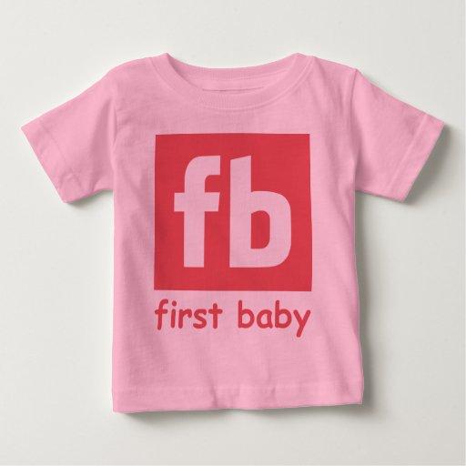 Primera niña playera de bebé