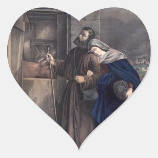 Primera Nochebuena Pegatina En Forma De Corazón