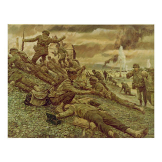 Primera onda en Omaha por la Segunda Guerra Mundia Póster