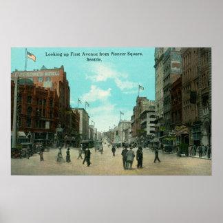 Primera opinión de la avenida de la avenida pioner póster