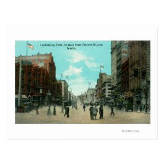 Primera opinión de la avenida de la avenida tarjeta postal