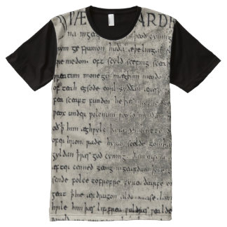 Primera página de Beowulf por todo la camisa de la Playeras Con Estampado Integral