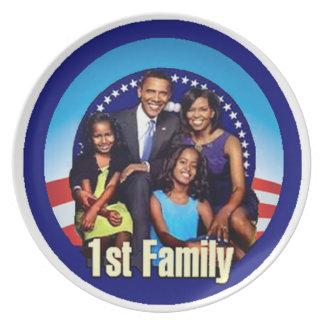 PRIMERA placa de la FAMILIA Platos Para Fiestas
