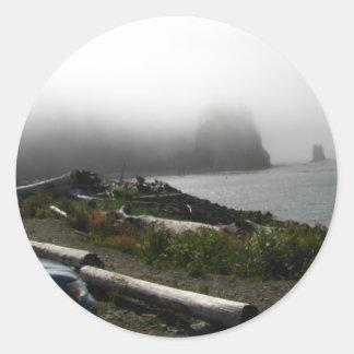 Primera playa pegatina redonda