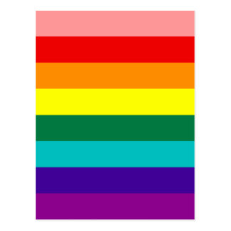 Primera postal de la bandera del orgullo gay del
