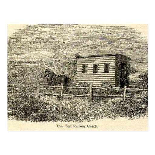 Primera postal ferroviaria del coche
