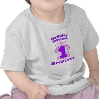 Primera princesa Shirt del cumpleaños Camiseta