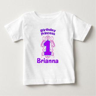 Primera princesa Shirt del cumpleaños Playera De Bebé