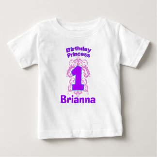 Primera princesa Shirt del cumpleaños Playera Para Bebé
