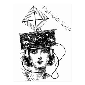Primera radio móvil tarjetas postales