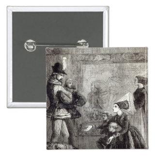 Primera reunión de Edward IV y de señora Elizabeth Pin Cuadrada 5 Cm